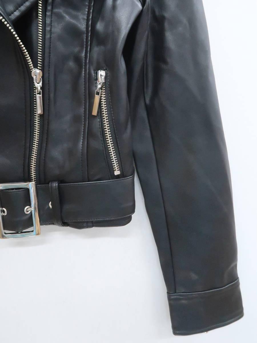 eimy istoire(エイミーイストワール)ライダースジャケット 長袖 黒 レディース A-ランク S