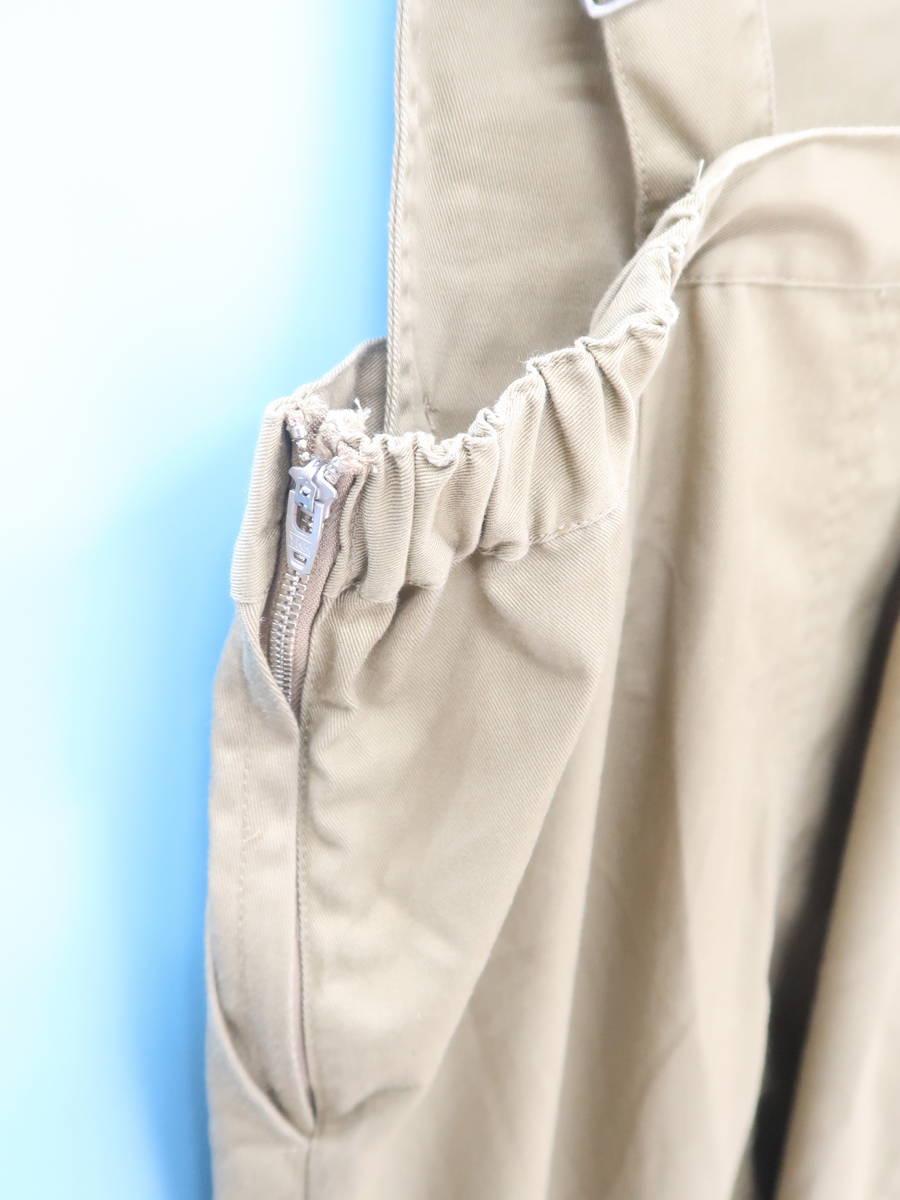 Discoat Parisien(ディスコートパリシアン)チノ2Wayジャンバースカート ベージュ レディース Aランク F [委託倉庫から出荷]