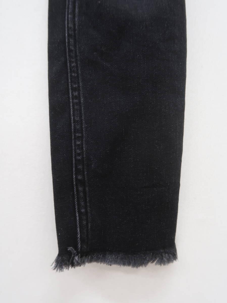 Abercrombie&Fitch(アバクロンビー&フィッチ)ハイライズアンクルジーンズ 黒 レディース Aランク 24 [委託倉庫から出荷]