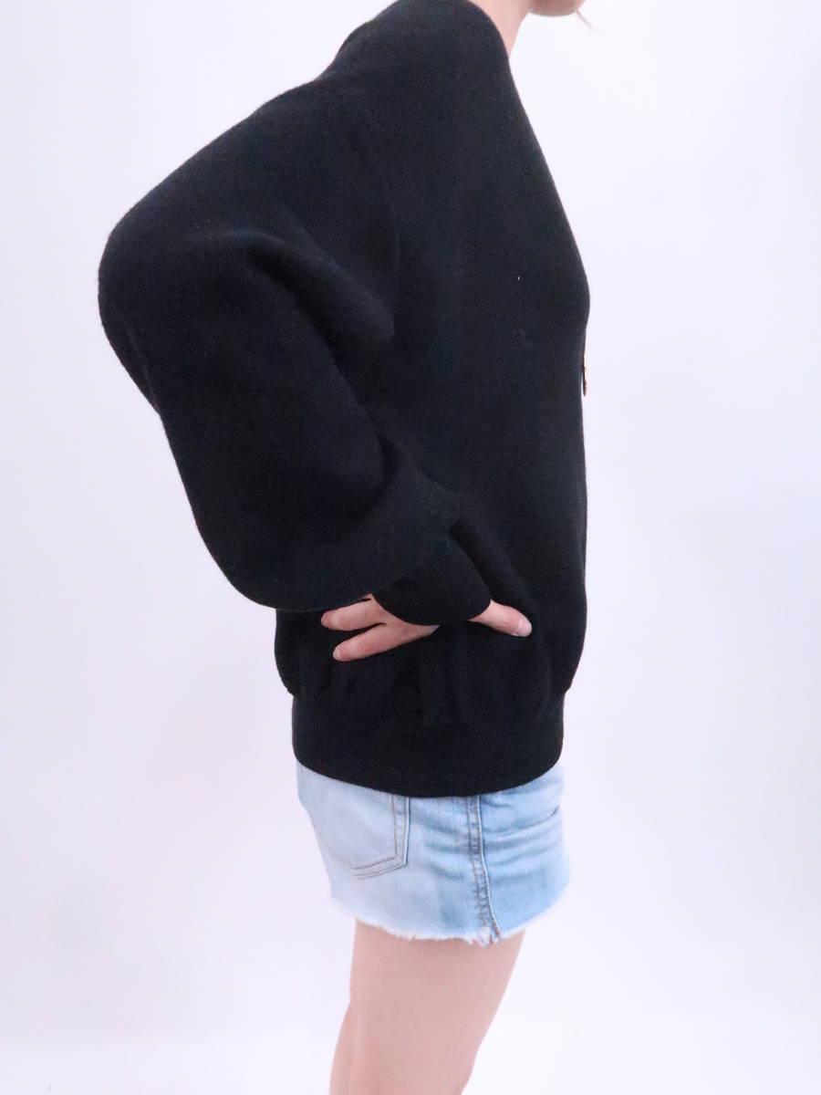 eimy istoire(エイミーイストワール)ロゴニットブルゾン 長袖 黒 白 レディース Aランク F [委託倉庫から出荷]