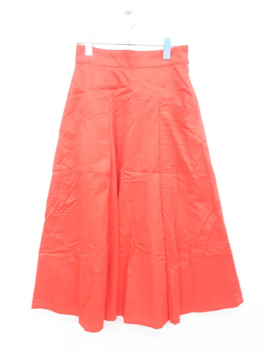 LOWRYS FARM(ローリーズファーム)フロントポケットタックフレアミディスカート 赤 レディース Aランク F [委託倉庫から出荷]
