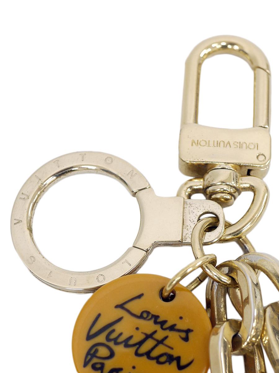 【送料無料】LOUIS VUITTON(ルイヴィトン)ポルトクレ・アイオール ジャングル M66266 / キーリング キーホルダー バッグチャーム オウム ゴールド レディース Aランク [当店倉庫から出荷]