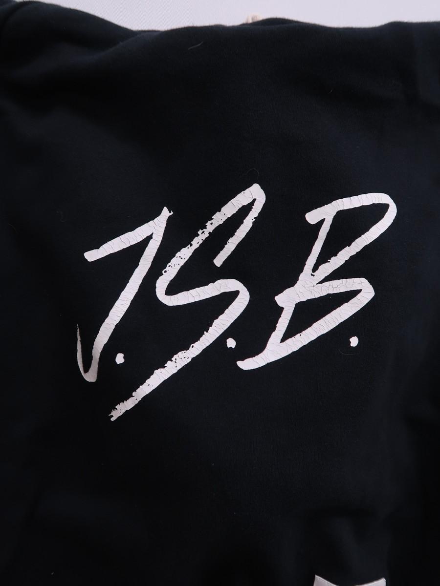 J.S.B(ジェーエスビー)ロゴプリントパーカー 長袖 黒 白 レディース Aランク M [委託倉庫から出荷]