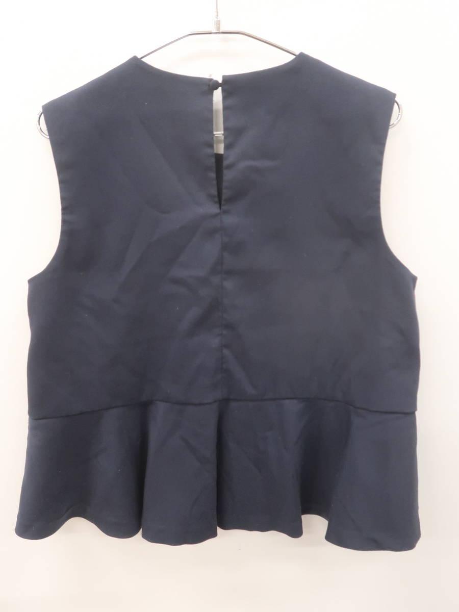 KBF(ケイビーエフ)ノースリーブフレアトップス ノースリーブ 紺 レディース Bランク ONE SIZE [委託倉庫から出荷]