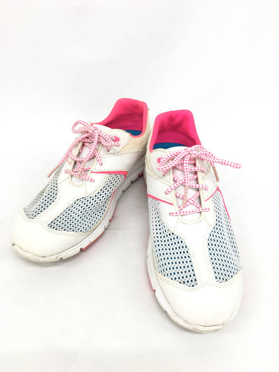 FootJoy(フットジョイ)メッシュゴルフシューズ 白/ピンク レディース Aランク 7M [委託倉庫から出荷]