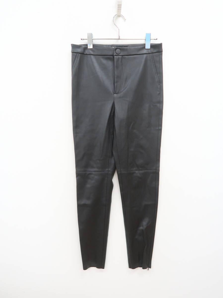 ZARA(ザラ)レザーパンツ 黒 レディース Aランク M [委託倉庫から出荷]