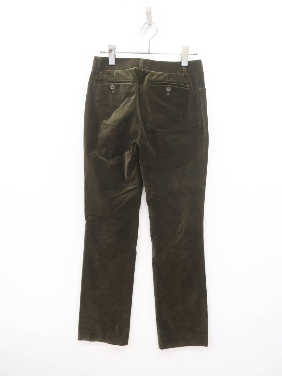Adam et Rope(アダムエロペ)ベロアストレートパンツ 緑 レディース Aランク 38 [委託倉庫から出荷]