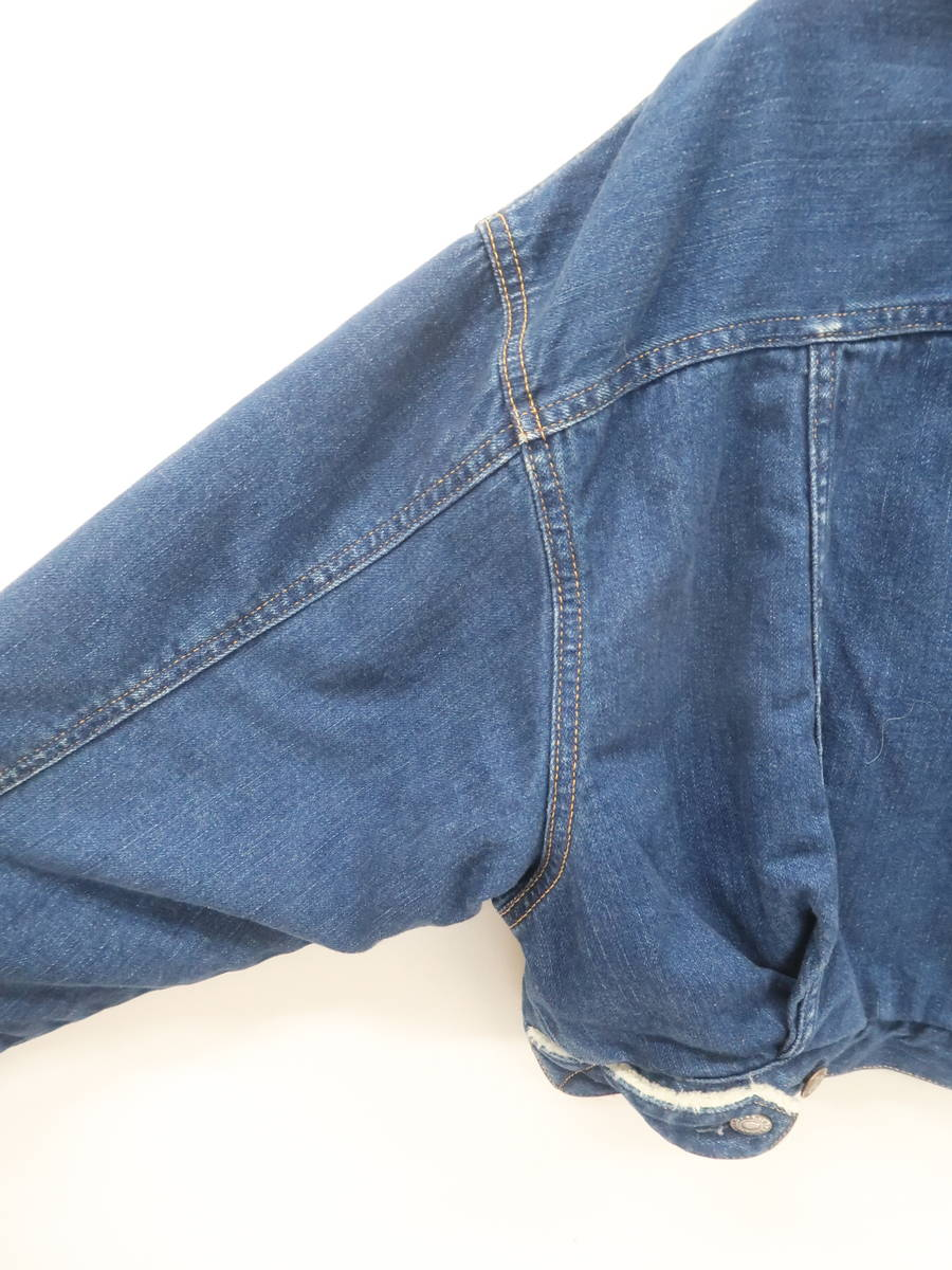 【送料無料】MINEDENIM(マインデニム)デニムボアショートジャケット 長袖 青/白 レディース Sランク 2 [委託倉庫から出荷]