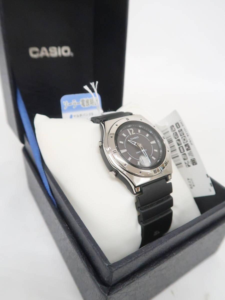 CASIO(カシオ)ウェーブセプターソーラーウォッチ 黒 レディース Sランク [委託倉庫から出荷]