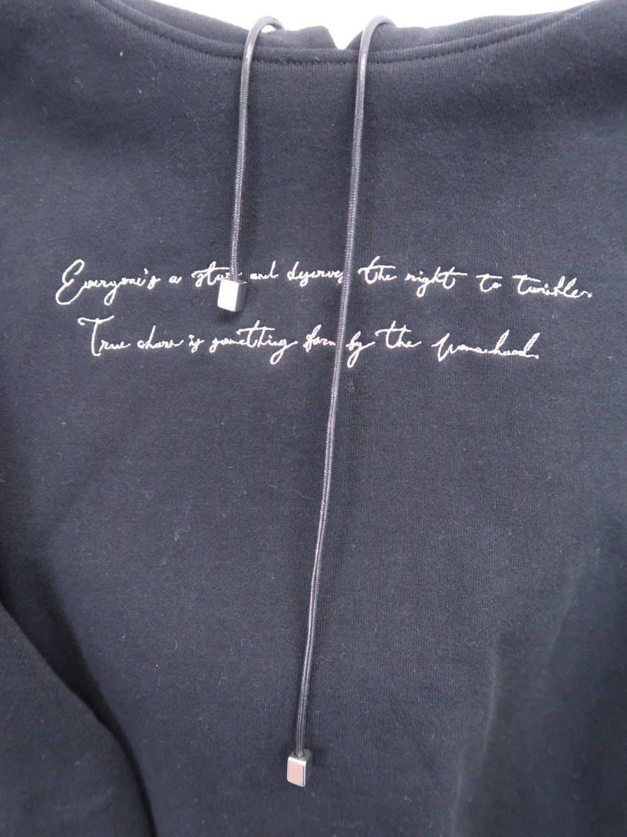 eimy istoire(エイミーイストワール)エンブロイダリーパーカー 長袖 黒 レディース Aランク F [委託倉庫から出荷]