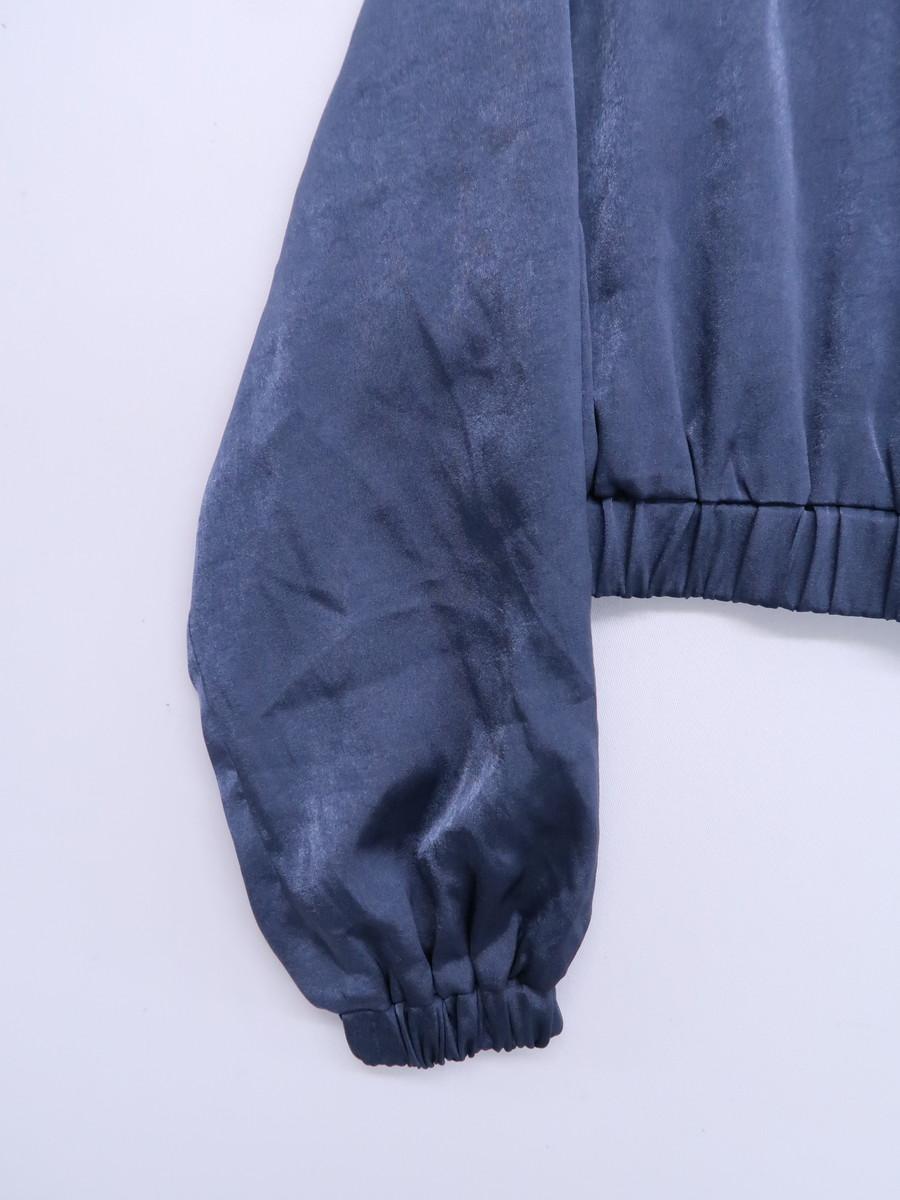 Darich(ダーリッチ)サテンショートブルゾン 長袖 紺 レディース Aランク F [委託倉庫から出荷]