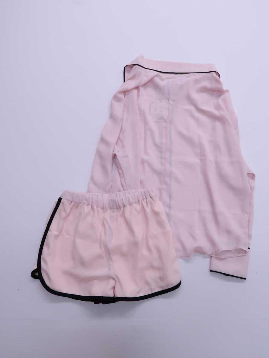 DaTuRa(ダチュラ)彼シャツパジャマ 長袖 ピンク レディース 新品 F [委託倉庫から出荷]