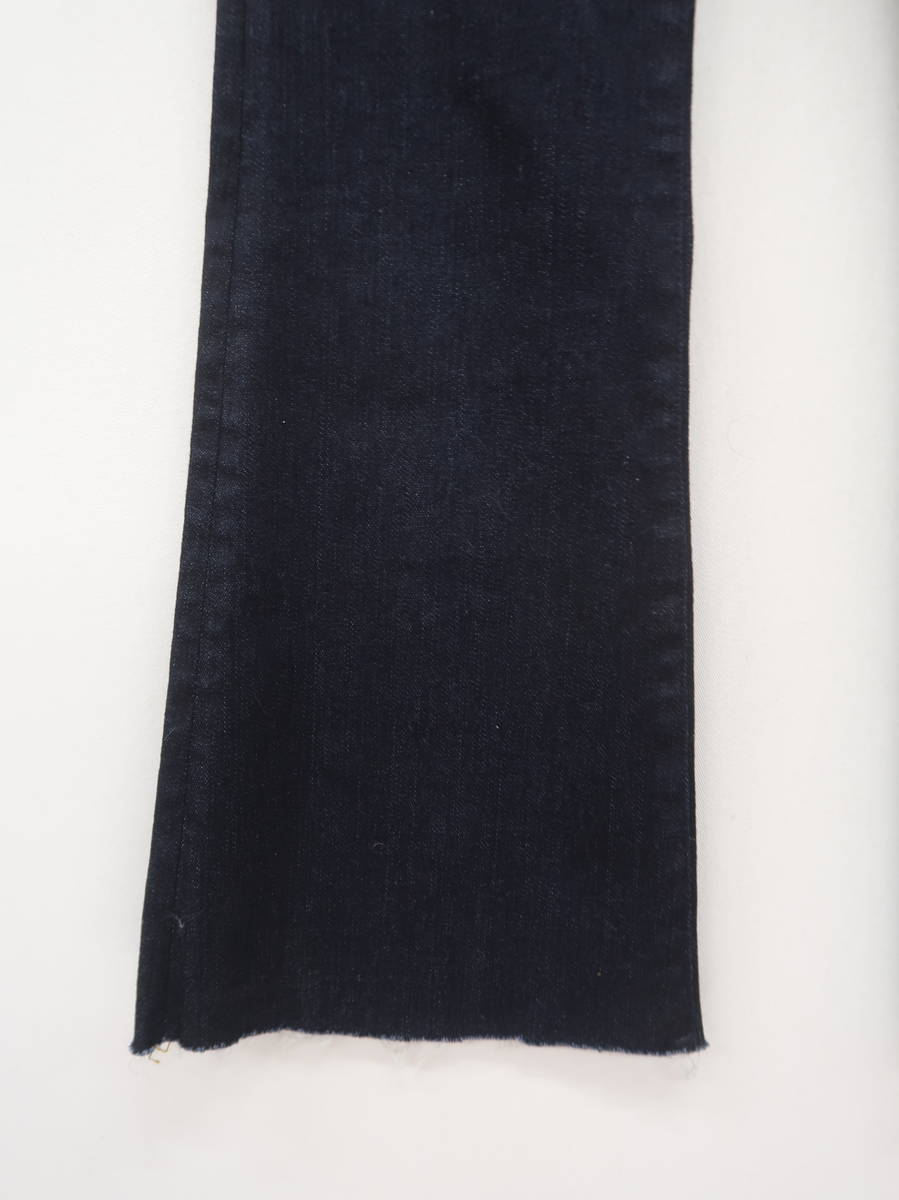 MOUSSY(マウジー)ハイウエストSTRECH FLARE 青 レディース Aランク 0 [委託倉庫から出荷]