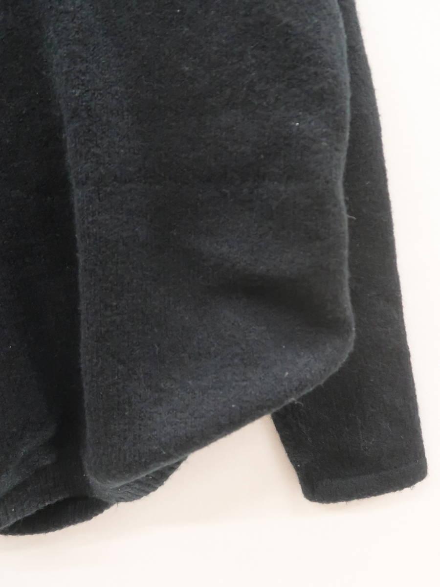 rienda(リエンダ)カシュクールニットカットソー 長袖 黒 レディース A-ランク F [委託倉庫から出荷]