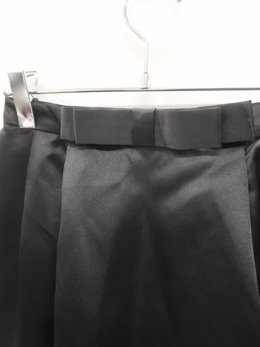 Dress Lab(ドレスラボ)ウエストリボンタックサテンスカート 黒 レディース Sランク S [委託倉庫から出荷]