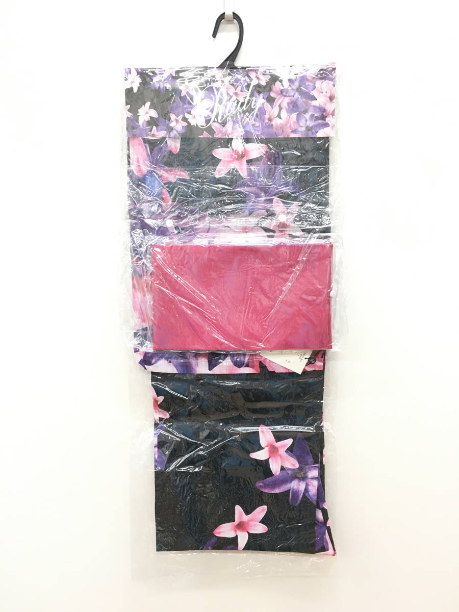 Rady(レディー)エレガンスフラワー浴衣セット 黒/紫 レディース 新品 F [委託倉庫から出荷]