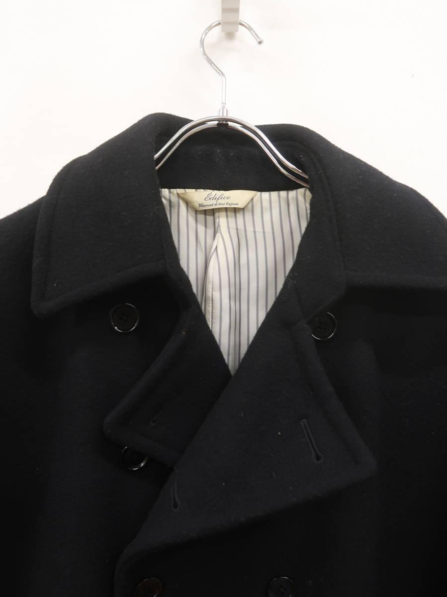 EDIFICE(エディフィス)ウールPコート 長袖 黒 メンズ A-ランク 40 [委託倉庫から出荷]