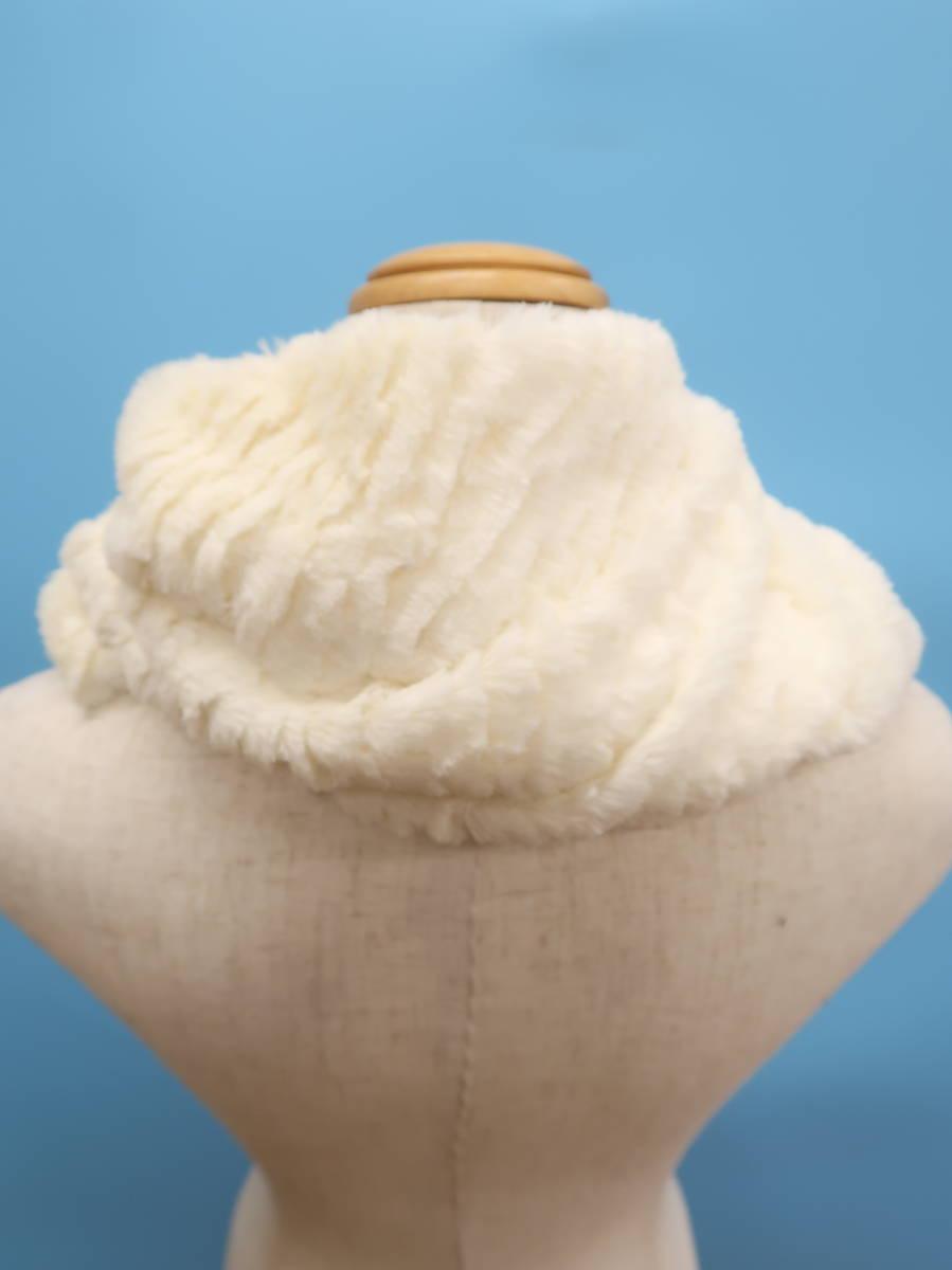 JEANASIS(ジーナシス)エコファースヌード 白 レディース 新品 [委託倉庫から出荷]