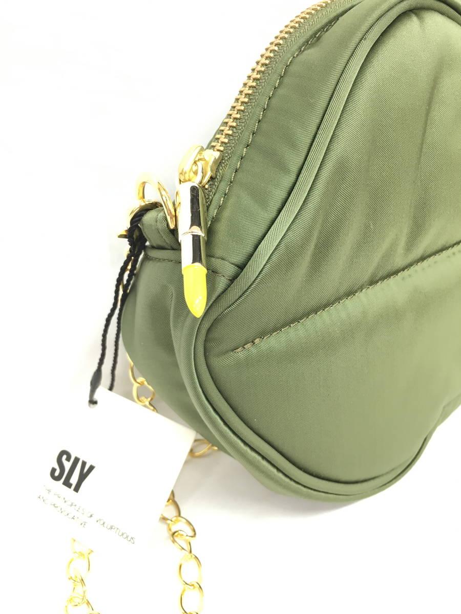 PORTER × SLY(ポーター × スライ)LIPポシェット 緑 レディース 新品 F [委託倉庫から出荷]