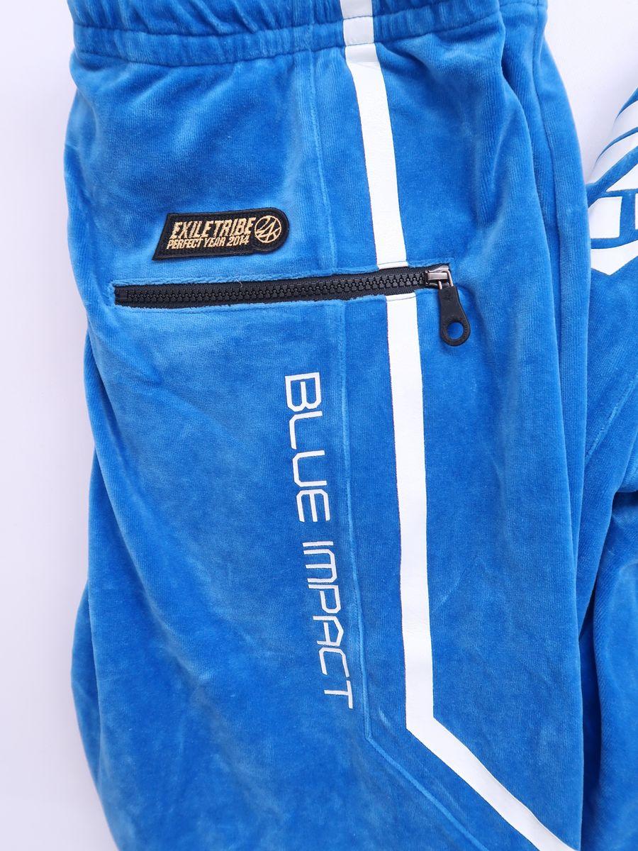 【送料無料】24karats(トゥエンティーフォーカラッツ)BLUE IMPACTジャージセットアップ 長袖 青 白 レディース Aランク XL [委託倉庫から出荷]