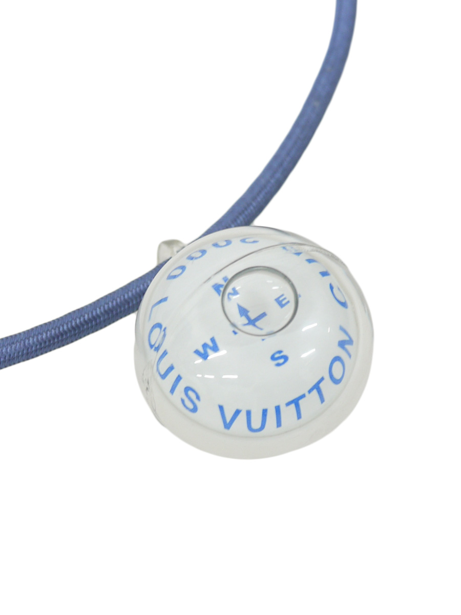 LOUIS VUITTON(ルイヴィトン)ルイヴィトンカップ コンパス 方位磁石 ネックレス チョーカー 白/青 レディース Aランク [当店倉庫から出荷]