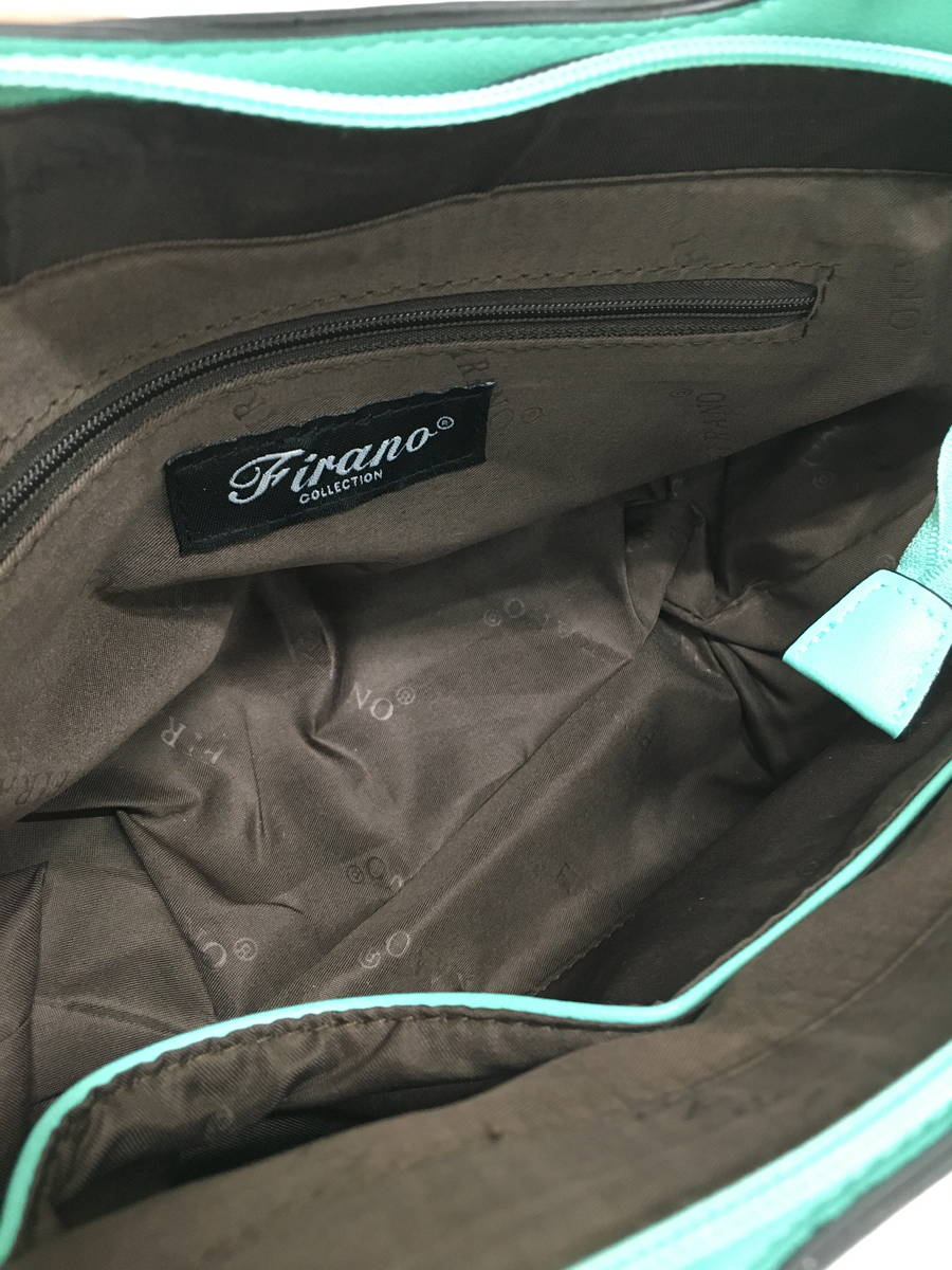 FIRANO(フィラノ)バイカラーショルダーバッグ 緑/紺 レディース A-ランク [委託倉庫から出荷]