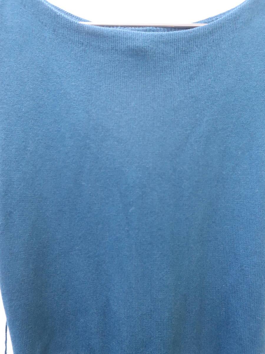 【送料無料】eimy istoire(エイミーイストワール)[2019]ジオメトリックジャガードニットワンピース ノースリーブ 青 レディース 新品 F [委託倉庫から出荷]