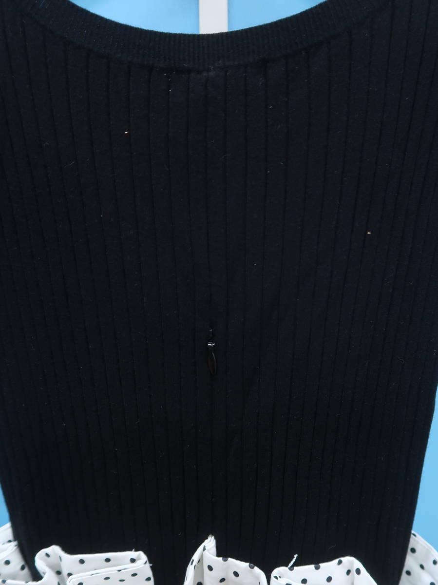 FRAY I.D(フレイアイディー)ニットコンビノースリーブワンピース ノースリーブ 白/黒 レディース Aランク 0 [委託倉庫から出荷]