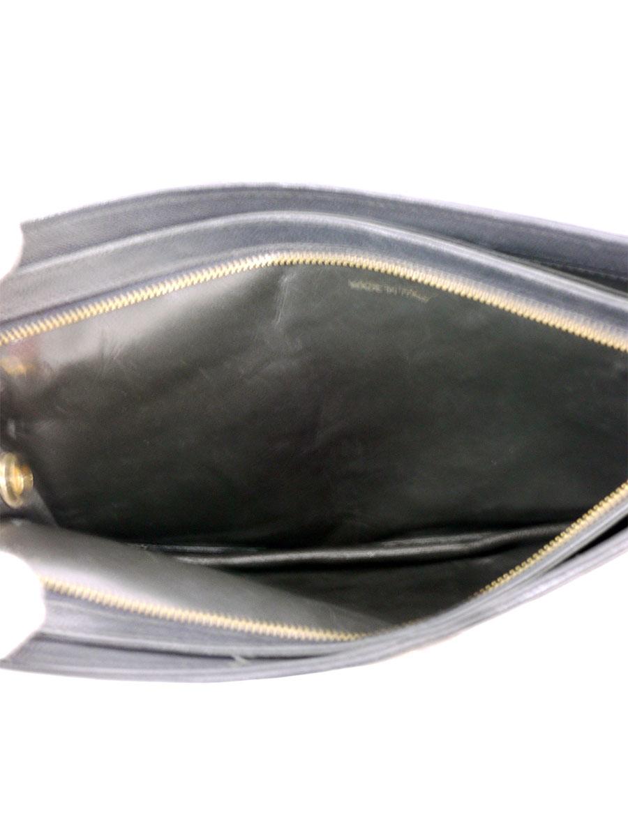 【送料無料】CHANEL(シャネル)ヴィンテージ ラムスキン クラッチバッグ セカンドバッグ ココマーク 黒/ゴールド レディース Aランク [当店倉庫から出荷]