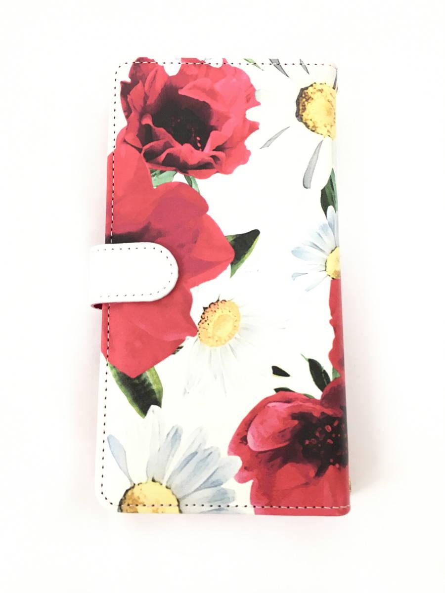 rienda(リエンダ)全機種対応マルチ手帳スマホケース 白/赤 レディース 新品