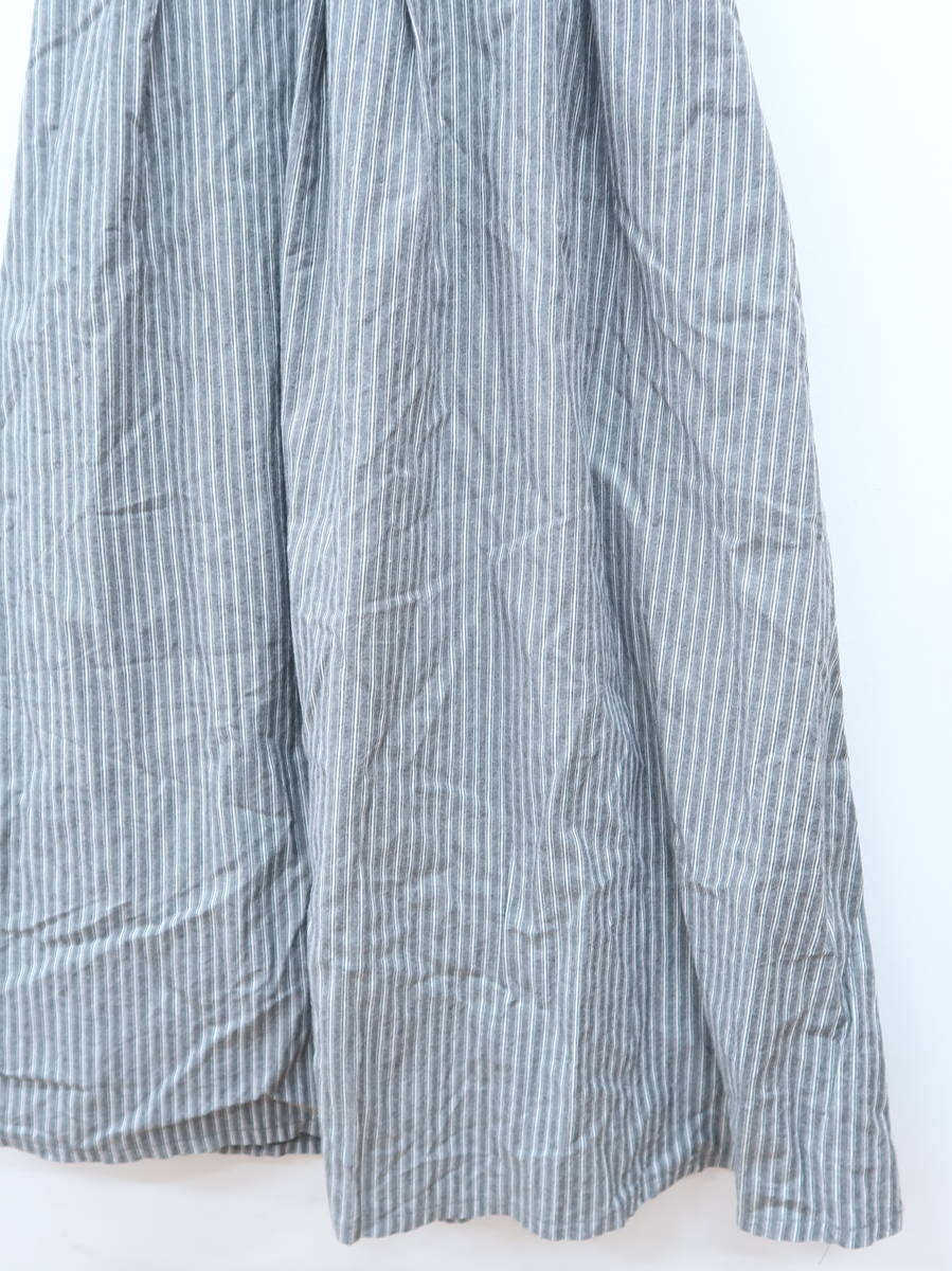 SeaRoomlynn(シールームリン)ストライプサスペンダー付スカート グレー レディース Aランク [委託倉庫から出荷]
