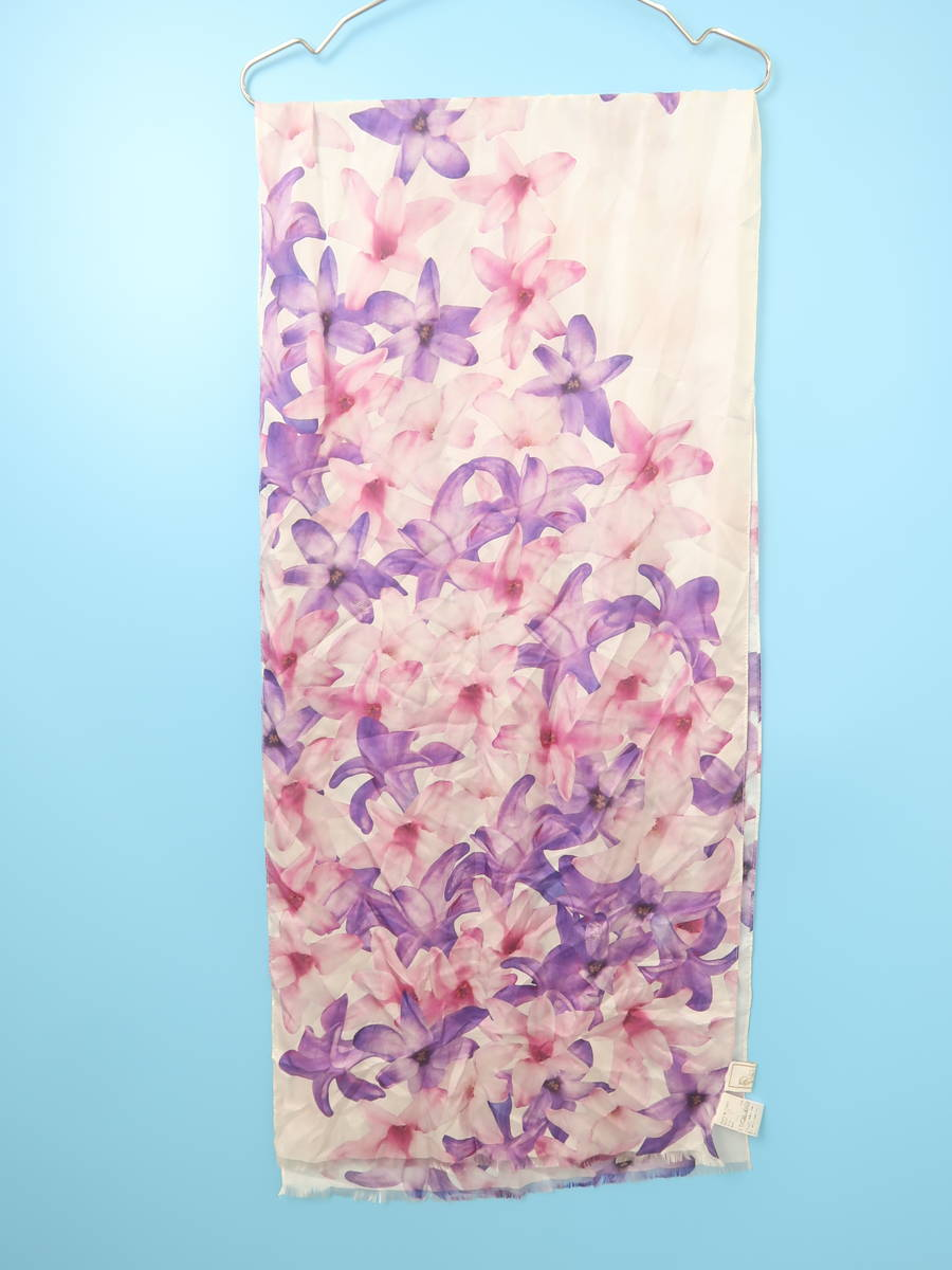 Rady(レディー)エレガンスフラワーシルクストール 紫/白 レディース Aランク F [委託倉庫から出荷]