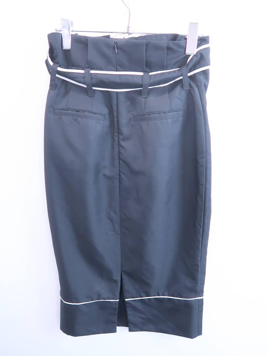 eimy istoire(エイミーイストワール)バイカラーベルトスカート 黒/白 レディース Aランク M