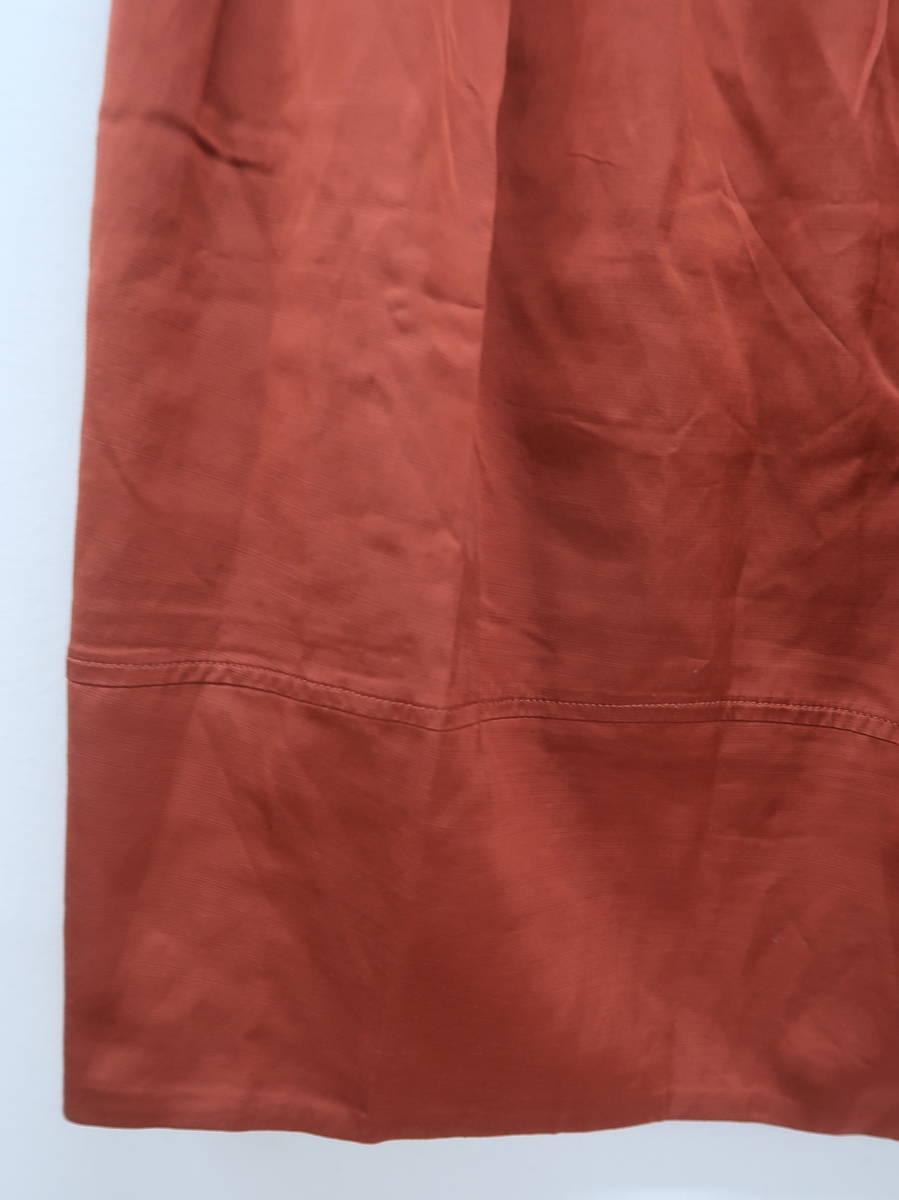 LAUTREAMONT(ロートレアモン)ウエストギャザーデザインサテンスカート オレンジ レディース 新品 38 [委託倉庫から出荷]