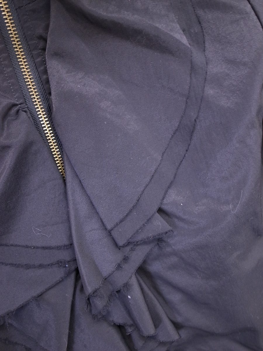 ROSE BUD(ローズバッド)フリルデザインブルゾン 長袖 黒 レディース Aランク 1 [委託倉庫から出荷]