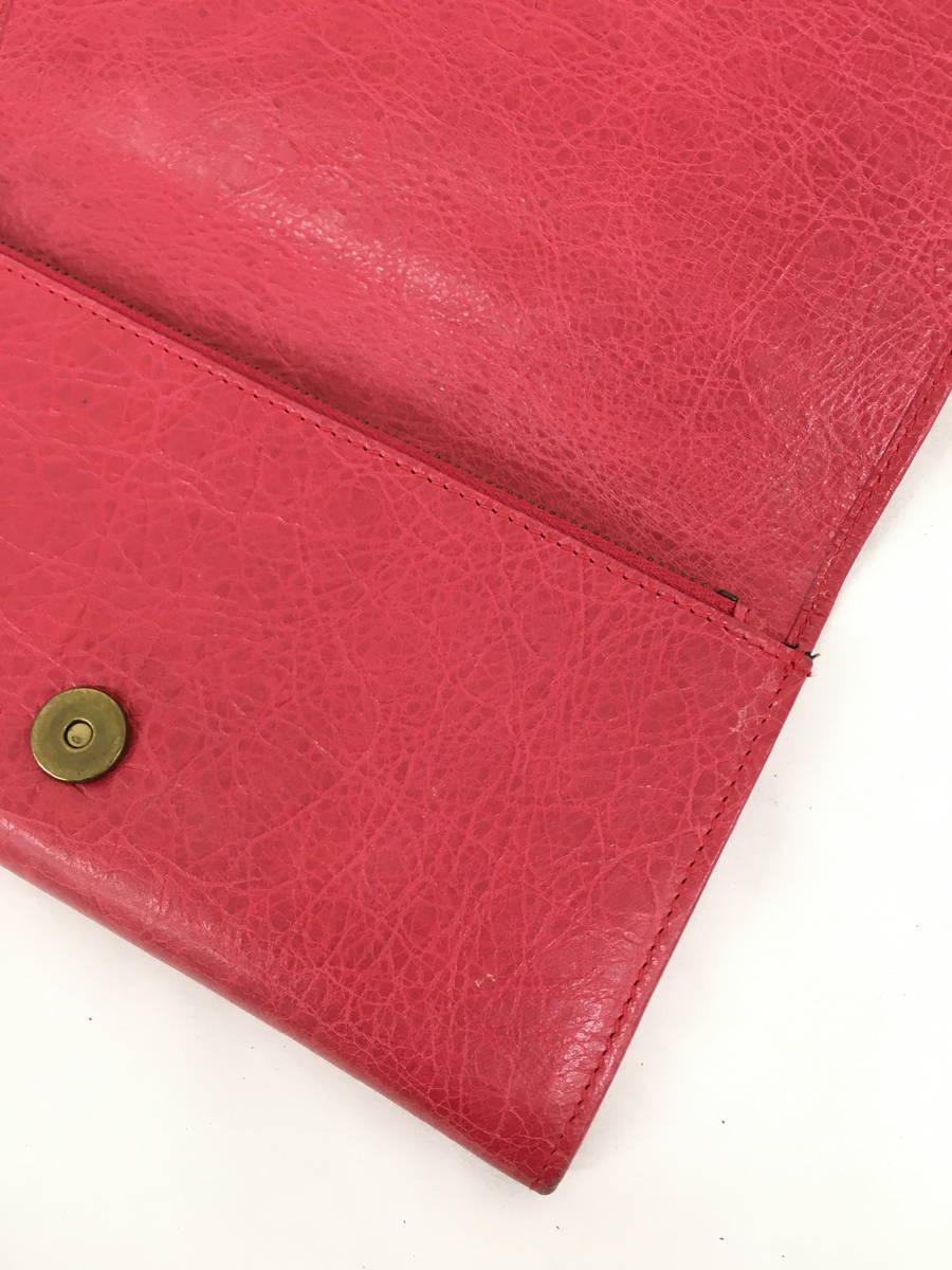 【送料無料】BALENCIAGA(バレンシアガ)CLASSIC MONEY 二つ折り財布 赤 レディース Bランク [委託倉庫から出荷]