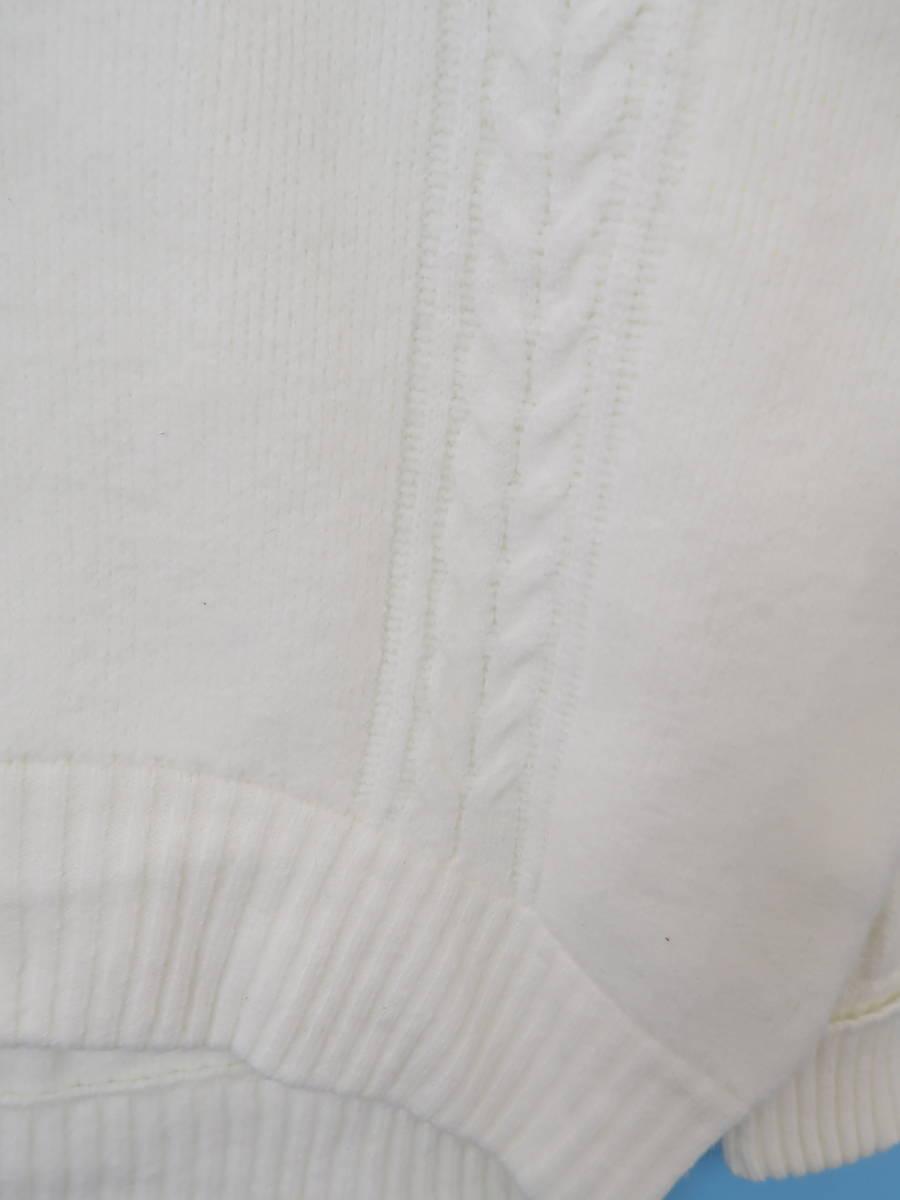 jouetie(ジュエティー)[2019]モックネックワイドニットプルオーバー 長袖 白 レディース Sランク M [委託倉庫から出荷]
