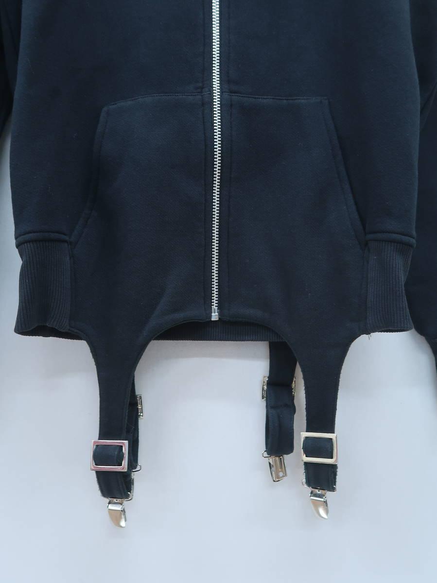 adidas(アディダス)JEREMY SCOTT Classic Hoodie With Trouser Brace 長袖 黒 レディース Aランク M [委託倉庫から出荷]