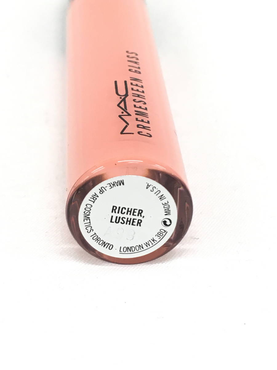 M・A・C(マック)クリームシーンガラス #RICHER.LUSHER / リップグロス オレンジ レディース Sランク 2.7g [委託倉庫から出荷]