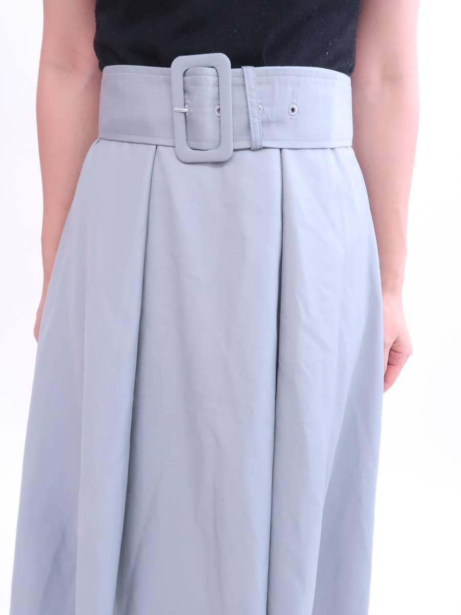 eimy istoire(エイミーイストワール)ベルト付フレアスカート 青 レディース Aランク S