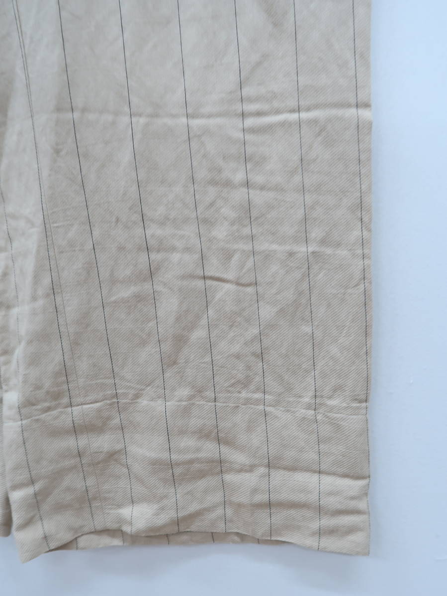 ZARA(ザラ)ピンストライプワイドパンツ ベージュ レディース Aランク XS [委託倉庫から出荷]