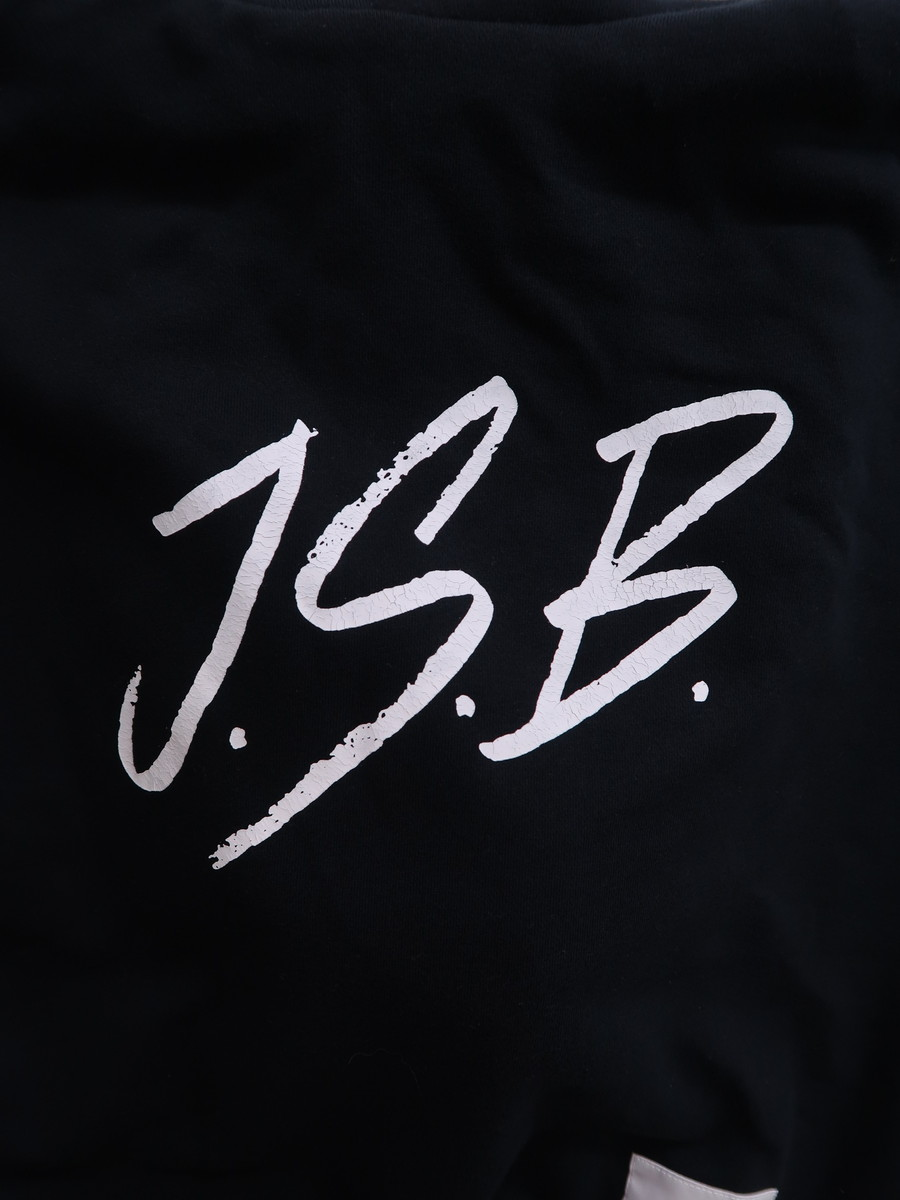 J.S.B(ジェーエスビー)ロゴプリントパーカー 長袖 黒 白 レディース Aランク L [委託倉庫から出荷]