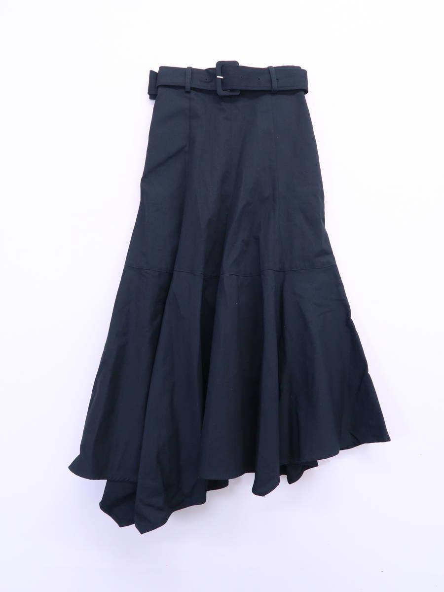AMERI(アメリ)ベルト付ロングスカート 黒 レディース Aランク [委託倉庫から出荷]