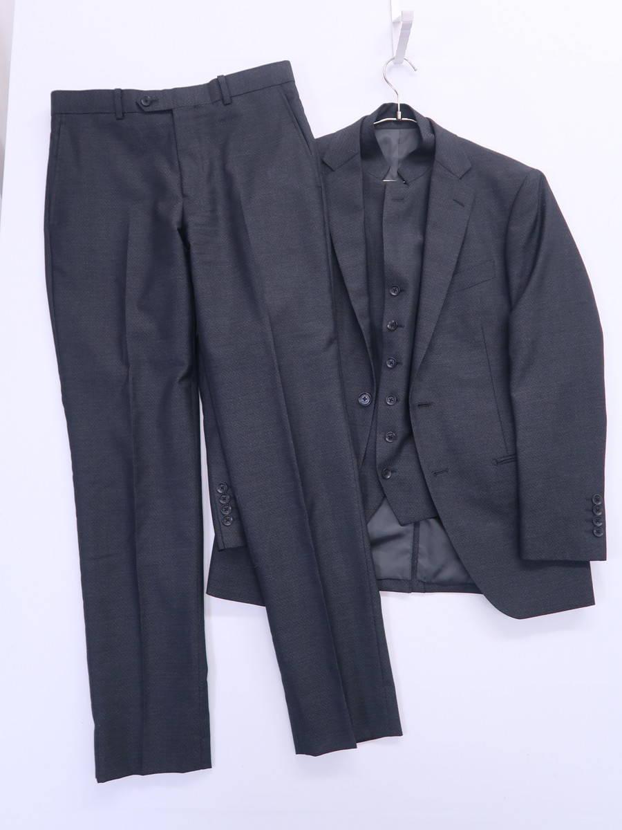 【送料無料】TENORAS(ティノラス)スリーピーススーツ 長袖 グレー メンズ Aランク M [委託倉庫から出荷]