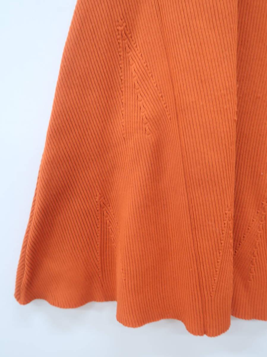 eimy istoire(エイミーイストワール)リブニットフレアワンピース ノースリーブ オレンジ レディース A-ランク F [委託倉庫から出荷]