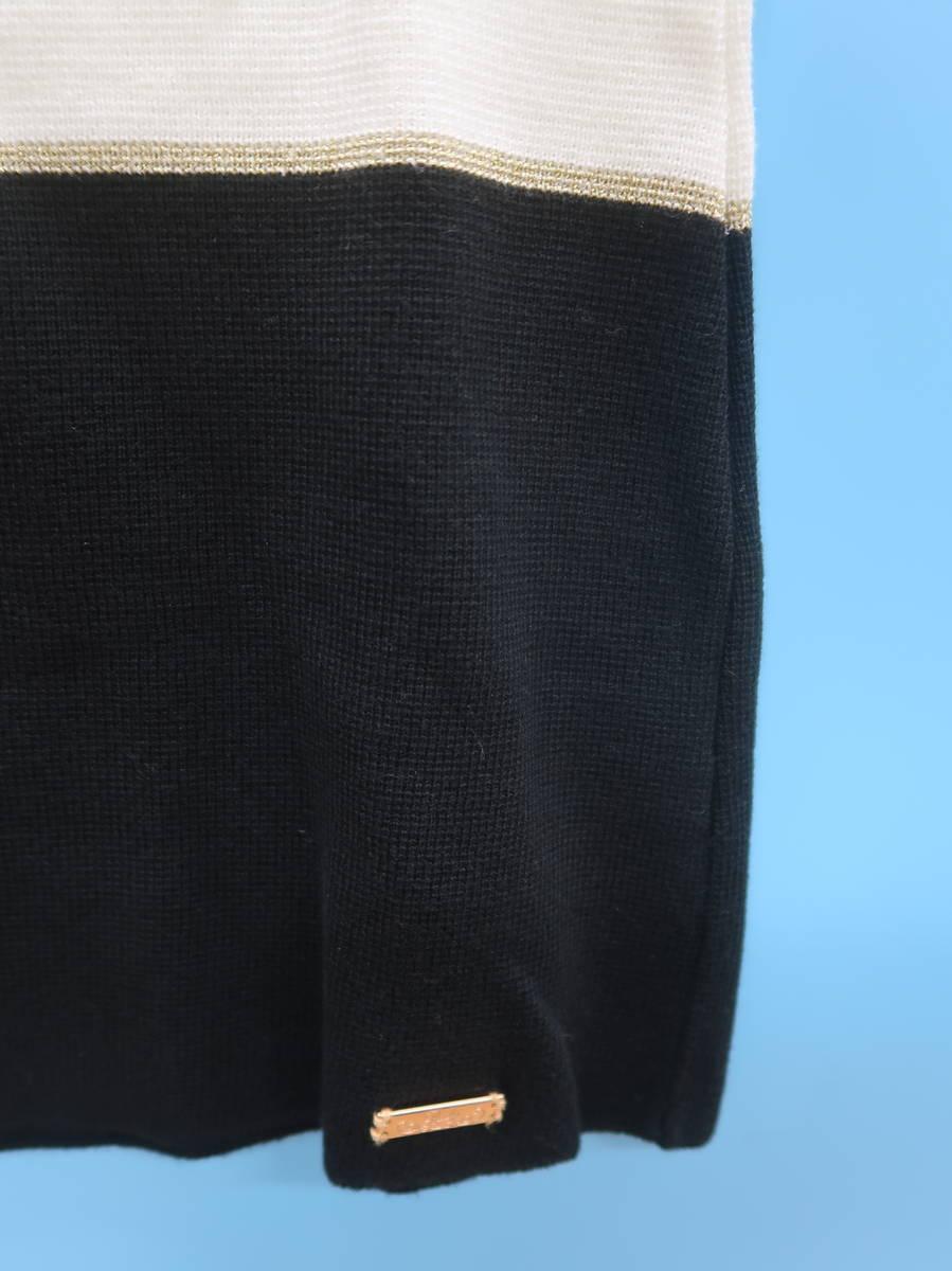 Rady(レディー)バイカラーニットトップス 半袖 白/黒 レディース Aランク F [委託倉庫から出荷]