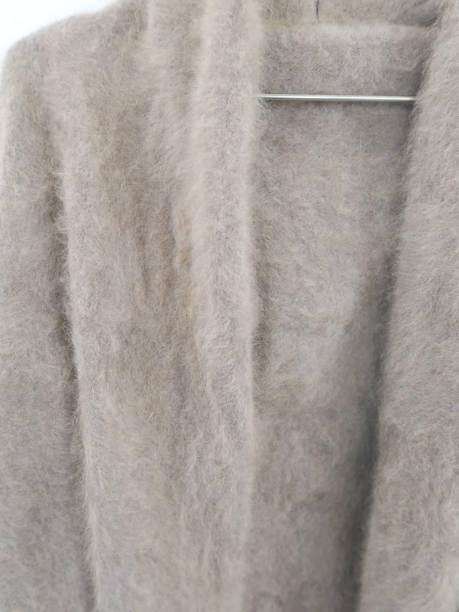 NOBLE(ノーブル)[2019]ラクーンニットオーバーカーディガン 長袖 茶 レディース Sランク [委託倉庫から出荷]