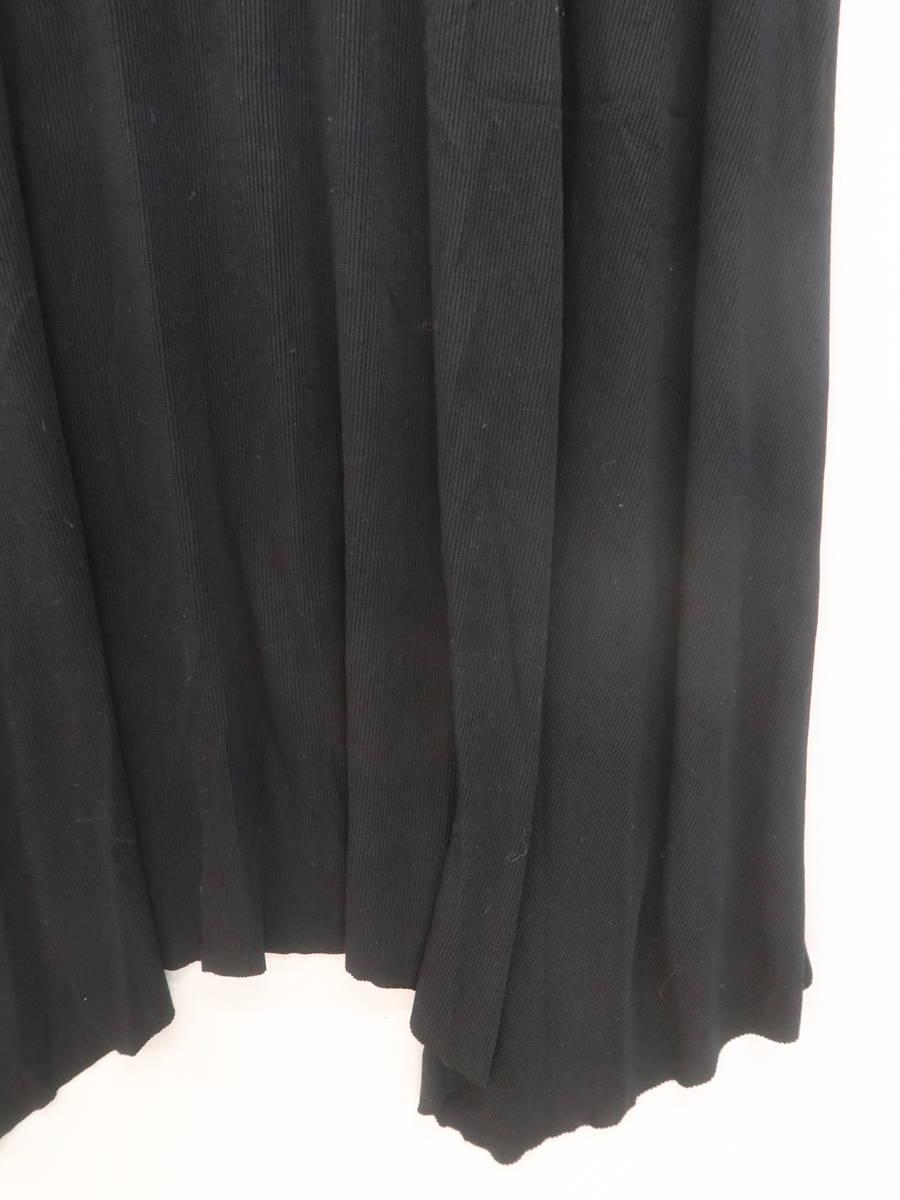 AZUL by moussy(アズールバイマウジー)イレヘムカットリブロングスカート 黒 レディース 新品 M [委託倉庫から出荷]
