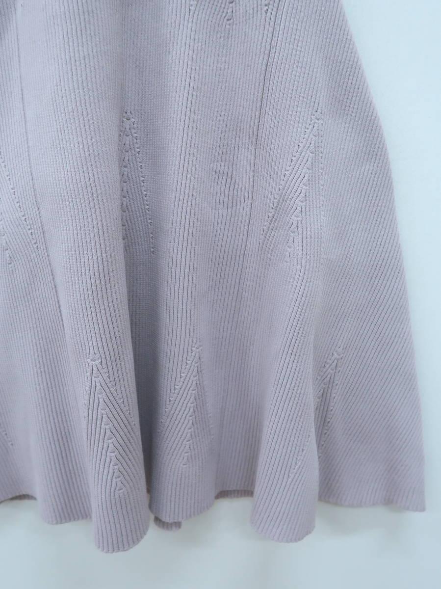 eimy istoire(エイミーイストワール)リブニットフレアワンピース ノースリーブ 紫 レディース A-ランク F [委託倉庫から出荷]