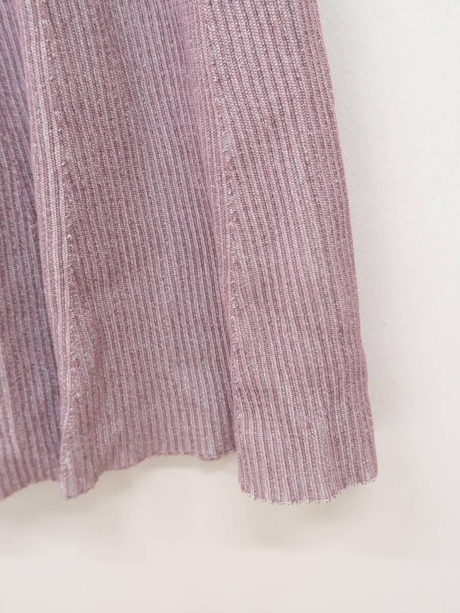 【送料無料】eimy istoire(エイミーイストワール)[2020S/S]スプリングカラーフレアニットワンピース 半袖 紫 レディース 新品 F [委託倉庫から出荷]